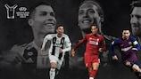 Cristiano Ronaldo, Virgil van Dijk and Lionel Messi make up the three-man shortlist