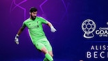 Alisson Becker é o Guarda-redes da Época na Champions League 2018/19