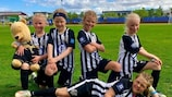 Apart from funding infrastructure, the HatTrick programme also assists grassroots football development and education, as it did here in Iceland
