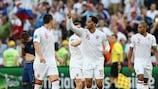 England players celebrate Joleon Lescott's goal