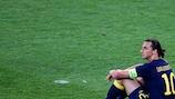 Zlatan Ibrahimović is deflated after defeat by Ukraine