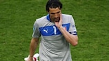 Gianluigi Buffon looks downcast after the final whistle in Poznan