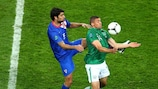 Action from the match between Croatia and the Republic of Ireland