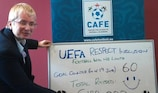 CAFE managing director Joyce Cook - delighted with the EURO goal-getters