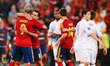 Spain defeated France 2-0 in the quarter-finals