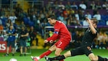 Cristiano Ronaldo scored twice against the Netherlands in the group stage
