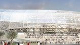 An artist's impression of how the Stade de Nice will look, come 2016