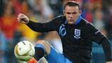 Wayne Rooney, durante el partido de Inglaterra ante Montenegro