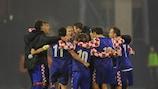 Os croatas comemoram o apuramento