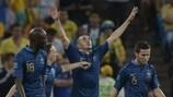 A França festeja o seu triunfo sobre a Ucrânia