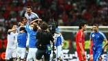 A Grécia festeja a sua vitória sobre a Rússia