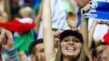 Adeptos de Itália no Estádio Nacional de Varsóvia, após a meia-final de UEFA EURO 2012 frente à Alemanha