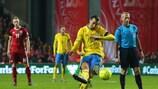Zlatan Ibrahimović a marqué contre le Danemark