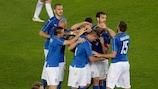 Daniele De Rossi, buteur pour l'Italie, lundi