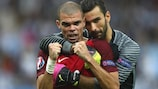 Футболисты сборной Португалии Руй Патрисиу и Пепе вошли в символическую сборную ЕВРО-2016