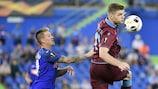 Acción de la primera jornada en el encuentro entre el Getafe y el Trabzonspor