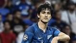 Sardar Azmoun après son but pour le Zenit à Lyon lors de la première journée
