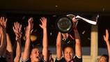 Las jugadoras del Frankfurt celebran el título