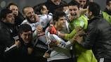 Beşiktaş enjoy their victory against Liverpool