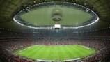Schauplatz des Endspiels: das Nationalstadion von Warschau