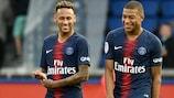 Neymar (à esquerda) e Kylian Mbappé devem pontuar bem pelo Paris na segunda jornada