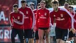 O Benfica prepara o jogo com o Lyon