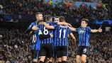 Atalanta's celebrations at Manchester City were short lived