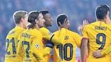 La joie des Catalans lors de leur victoire à Prague