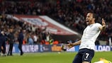 Andros Townsend marcó el tercer gol de Inglaterra contra Montenegro