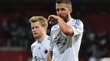 Per Nilsson (left) scored FCK's equaliser in the Danish Cup final