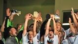 A Alemanha celebra a conquista do título pela primeira vez