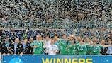 Los jugadores de Interviú Madrid celebran su victoria