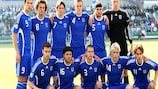 Les Finlandais avant le match contre l'Angleterre