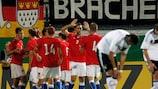 No último jogo, a República Checa bateu a Alemanha, campeã em título