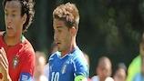Italy captain Fabio Borini in action at the U19 finals