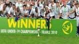 France celebrate winning last year's U19 final