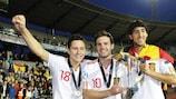 Ander Herrera, Juan Mata e Daniel Parejo festeggiano il successo spagnolo