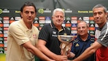 The Group B coaches with the Under-19 trophy