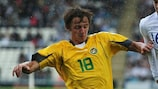 Arvydas Novikovas' goal sparked Lithuania's second-half comeback