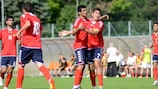 Hovhannes Hovhannisyan (right) scored Armenia's winning goal from the penalty spot