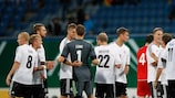 Germany celebrate a ninth win and a seventh clean sheet of qualifying