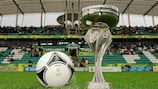 The UEFA European Under-19 Championship trophy