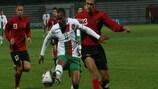 Josué, aqui num jogo frente à Albânia, acertou no poste perto do fim