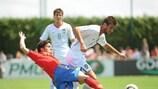 Sérgio Oliveira, aqui em acção no Europeu Sub-19 de 2010, deu a vitória a Portugal de penalty