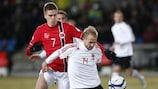 Markus Henriksen (à g.) affrontera l'Albanie avec les seniors avant d'aller en Israël avec les M21