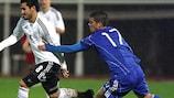 Pieros Sotiriou a réalisé un bon match pour les Chypriotes
