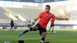 Harmeet Singh si allena in vista della sfida contro l'Italia