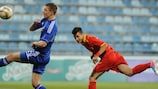 Action from the match in Zenica