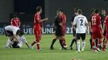 Russlands Spieler waren nach der Niederlage gegen Deutschland enttäuscht
