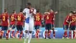 Spanien feiert den 3:0-Sieg gegen die Niederlande und den Gruppensieg